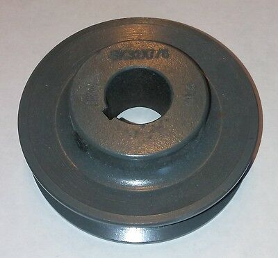 """3.35"""" X 7/8"""" Single Groove painted cast iron BK Pulley / Sheave # BK32X7/8"""