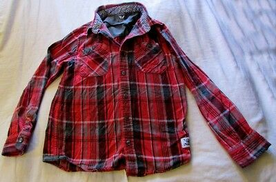 e78605491 CAT & JACK Red Plaid Flannel Quilted Jacket Target Kid's XL Size 16 ...