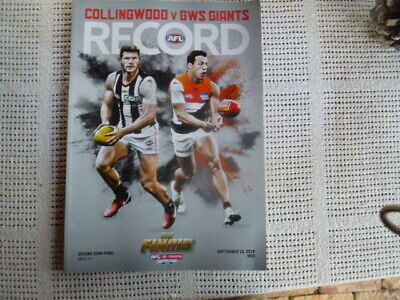 2018 Afl Record The Finals Collingwood Vs Gws 2Nd Elimination