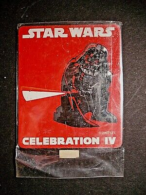 Star Wars Celebration IV 2007  Darth Vader Exclusive Fridge Magnet Free S/H NEW