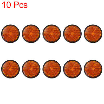 10pcs 5mm Red Plastic Screw Mount Reflective Warning Reflector for Motorcycle