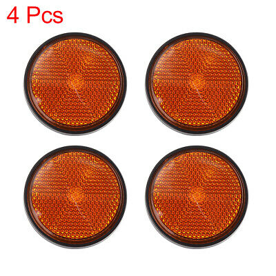 4pcs 5mm Red Plastic Screw Mount Reflective Warning Motorcycle Reflector
