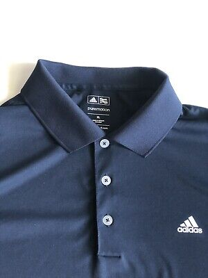 Mens PureMotion Adidas Golf Miami Country Club Navy Polo Collared Shirt Size XL