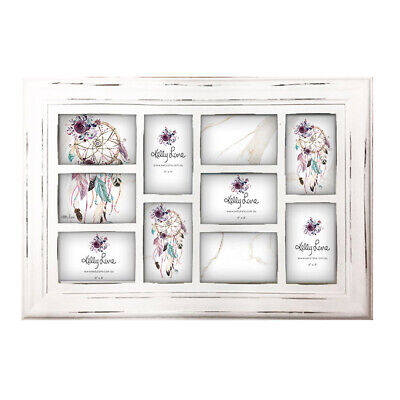 French Country Photo Frame Wooden BOHO FEATHERS Frame 64x43cm New