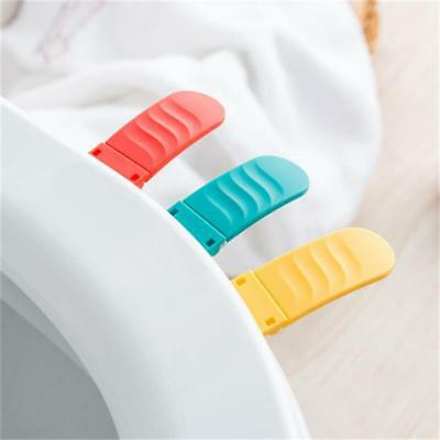 Bathroom PP Toilet Seat Cover Lid Lifter Lifting Device Handle Convenient FW