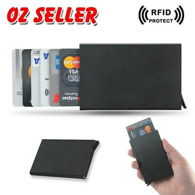 RFID Blocking Aluminum Slim Wallet ID Credit Card Holder Case Purse Protector