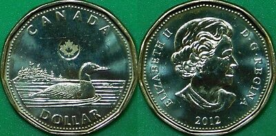 2012 Canada New Generation Loonie Graded as Brilliant Uncirculated