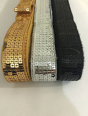 Beautiful 1 Meter Shiny Flat Sequin Lace Trim