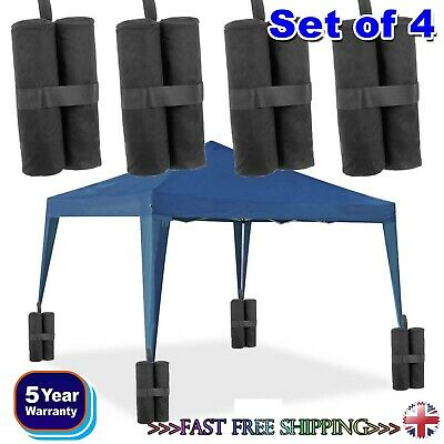 SET OF 4 GAZEBO FOOT LEG POLE SANDBAG LARGE WEIGHT MARQUEE MARKET STALL SAND BAG