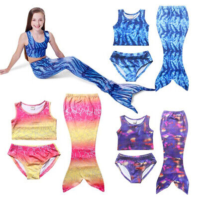 NEW Kid Girl Swimwear Mermaid Shell Bikini Set Push-up Swimsuit Beachwear Summer