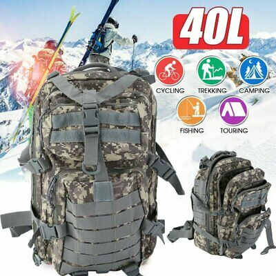 40L Outdoor Military Tactical Backpack Rucksack Camping Hiking Trekking NEW