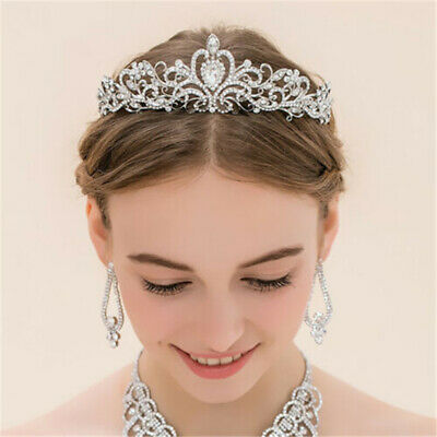 Wedding Bridal Women Pageant Prom Girl Kids Child Birthday Tiara Crown Headbands
