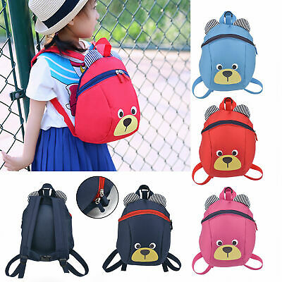 Cute Kids Toddler Walking Safety Harness Backpack Strap Bag with Reins UK
