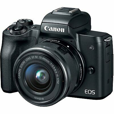 Canon - EOS M50 Mirrorless Camera with EF-M 15-45mm f/3.5-6.3 IS STM Zoom IT*1