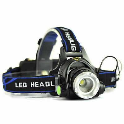 21000LM ZoomableLED Headlamp Rechargeable Headlight CREE XML T6 Head Torch