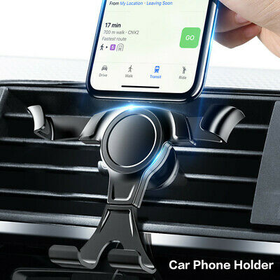 Universal Gravity Phone Holder Car Air Vent Mount Cradle for Mobile Phone GPS