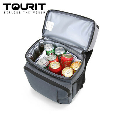 TOURIT Insulated Doubledeck Light Lunch Cooler Backpack Compartment for Day Trip