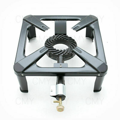 Large Gas Cast Iron LPG Burner Cooker Gas Boiling Ring Camping Outdoor NEW
