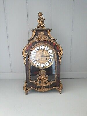 Beautiful o19th Century Ormolu Mounted Boule Mantel Clock