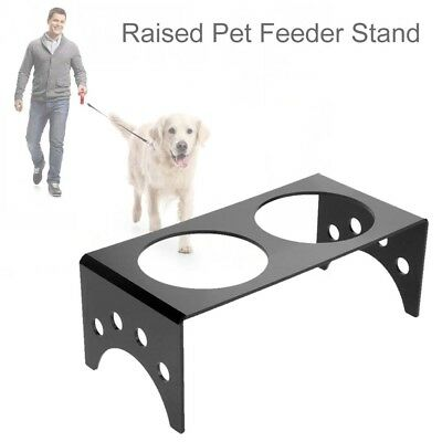 Cat Dog Puppy Pet Bowls Stand Water Food Feeder Double Bowl Stand UK