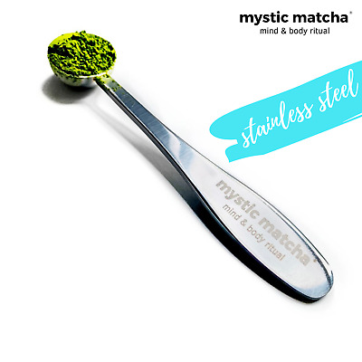 Matcha Green Tea Measuring Spoon by Mystic Matcha (1g) - Stainless Steel Scoop