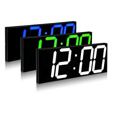 Remote Control LED Digital Wall Clock For School Home Decor Train Station