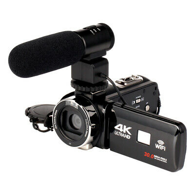 4K WiFi Ultra HD 1080P 16X ZOOM Digital Video Camera DV Camcorder with Lens and
