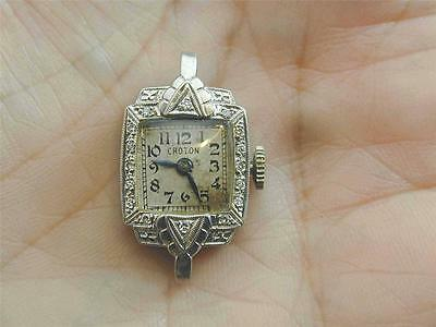 Antique Platinum Iridium & Diamond Croton Ladies Watch STUNNING