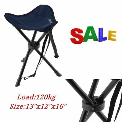 3 Leg Portable Outdoor Folded Stool Hiking Camping Fishing Triangle Chair LE