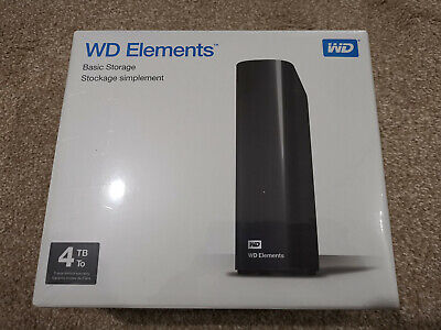 Collection Only in BOLTON - WD Elements External Hard Drive - 4 TB - Black