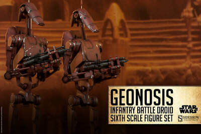 "Sideshow Star Wars Geonosis Infantry Battle Droids 12"" 1/6 Action Figures New"