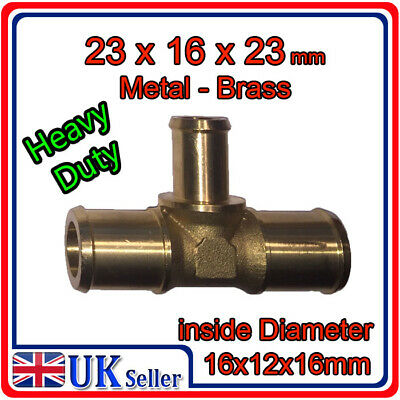 T PIECE 23x16x23 Metal push on pipe hose gas LPG carburettor water liquid air