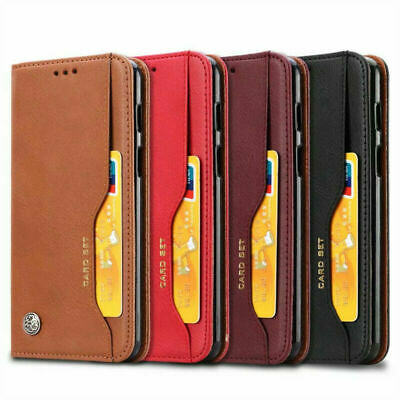 For OnePlus 7 Pro Luxury Magnetic Flip Leather Business Wallet Slot Case Cover