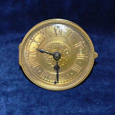 Antique Lenzkirch Clock Movement 1 million with Bezel & Gilt Dial A/F