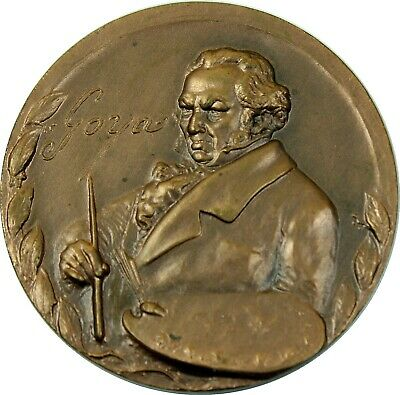 Large FRANCISCO GOYA SPANISH ROMANTIC PAINTER medal  - features THE EXECUTIONS