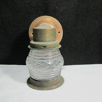 Vintage Solid Copper Jelly Jar Outdoor Exterior Light Fixture RARE Cabin Find !