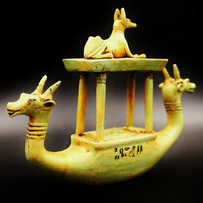 Antique Ancient Egyptian Funerary Goddesses Boat...Preparation for death..LARGE