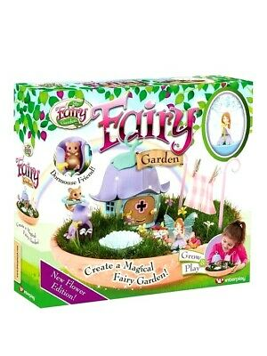 Fairy Garden New Flower Edition Kit Kids Fun Grow And Play Magical Dust Included