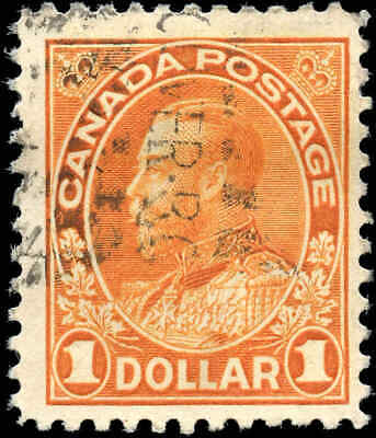 1925 Canada Used Scott #122 $1.00 King George V Admiral Stamp