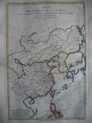 1780 - BONNE - Map CHINA TARTARY  JAPAN  KOREA