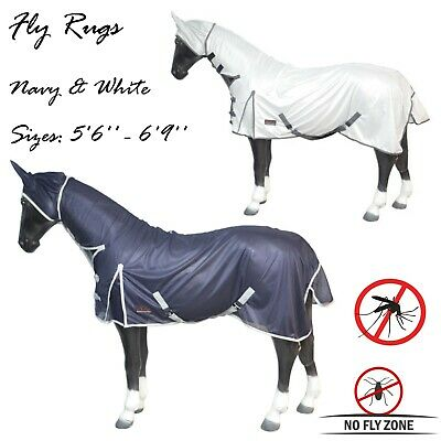 Horse fly rug combo attached neck cover