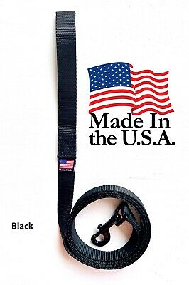Dog Leash Lead Long Obedience Recall Training BLACK Multiple Lengths USA MADE