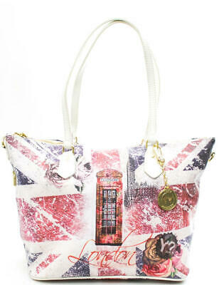 c5590bc156 BORSA DONNA Ynot flag new shopping bag medium unionroses F-396.UNIO