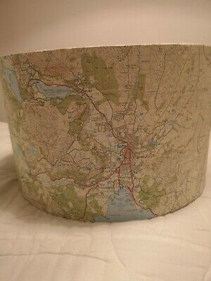 Handmade Vintage OS Ordnance Survey Map Lampshade featuring Lake District.