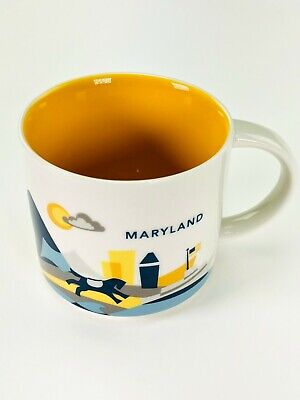 Starbucks Maryland You Are Here City State Collection Cup YAH Mug 14oz
