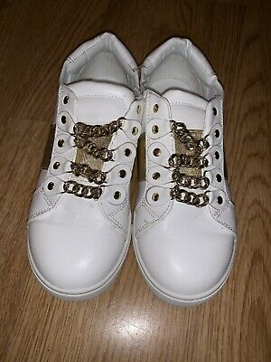 River Island Girls Leather Trainers Size 13