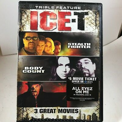 DVD - Triple Feature Ice-T - Stealth Fighter, Body Count, Mean Guns