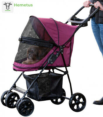 Pet Gear No-Zip Happy Trails Lite Stroller for Cats/Dogs, Boysenberry