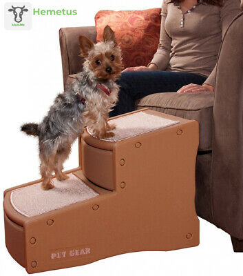 Pet Gear Easy Step II Stairs, 2 for Cats/Dogs up to 2-Step, Cocoa