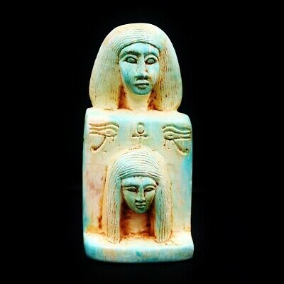 Rare UNIQUE Antique Ancient Egyptian Faience Statue Figure..Large